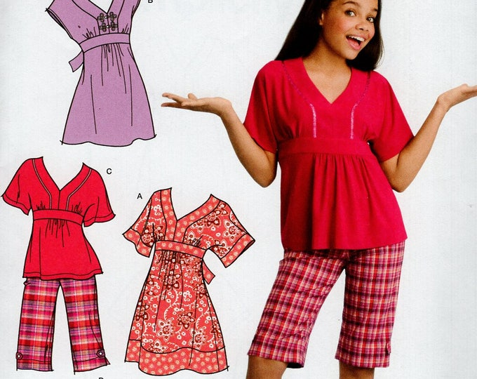 FREE US SHIP Sewing Pattern  Simplicity 3904 Girls Disney That's So Raven Duro Top Dress Bermuda Shorts Size  8.5 - 16.5 Uncut New