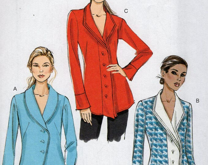 FREE US SHIP Vogue 9152 Sewing Pattern Top Blouse Trumpet cuff Size 6/14 6 8 10 12 14 Bust 30 32 34 36 (Last size left)  Uncut New