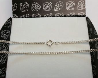 48.5 cm / 2.5 mm curb chain 835 silver necklace HK318