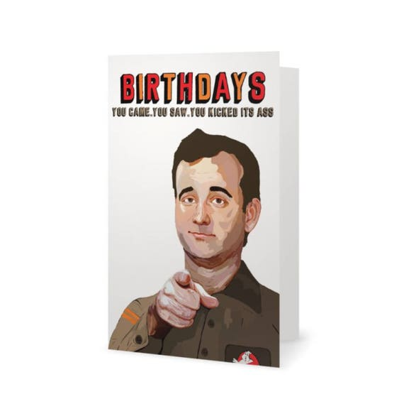 Bill Murray Ghostbusters Birthday Card Life Aquatic with – Bill Murray Birthday Card