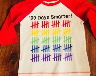 100 Days of School Shirt / Cute Kid Shirt / Tally Shirt / School shirt/ Kid Shirt/ Trendy Shirt