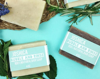 Cedarwood Sage Bubble and Rinse Bar Soap