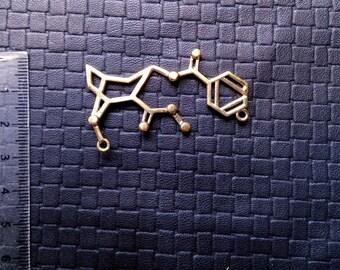 Cocaine Molecule - Formul - Bronze - Drug - Chemistry - Party - Design - Unique - Trance - Festival - Goa - Boho - Gypsy - Ethnic - Boom