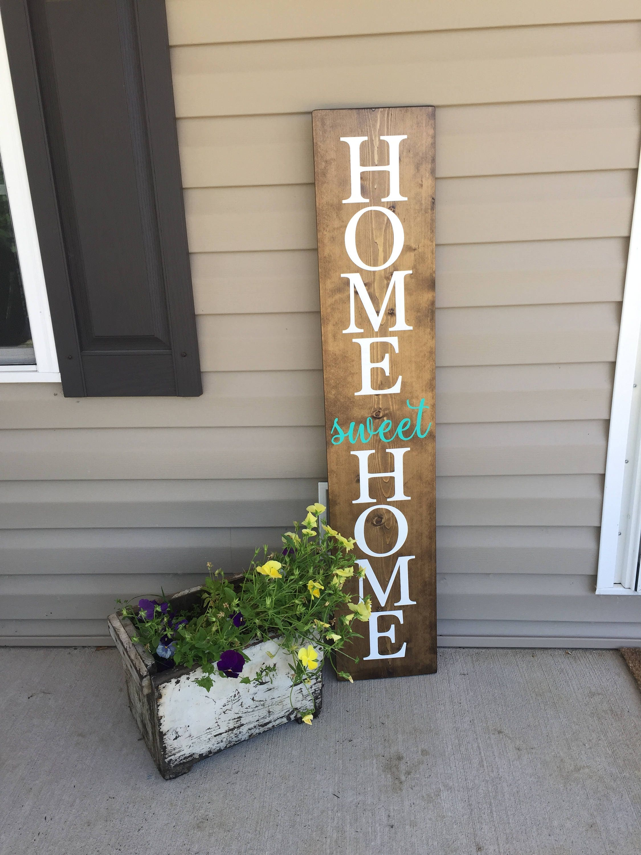 LARGE Front porch sign home sweet home sign welcome sign