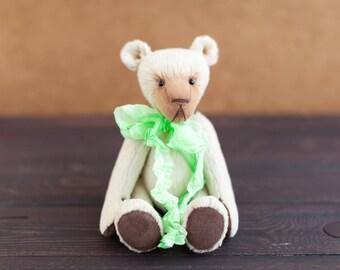 Artist teddy bear, teddy bear, viscose teddy bear, OOAK teddy bear