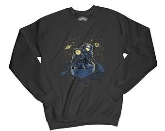 Space sweatshirt adventure sweatshirt astronaut sweatshirt exploring sweatshirt hipster sweatshirt boat sweatshirt  flow sweatshirt   AP38