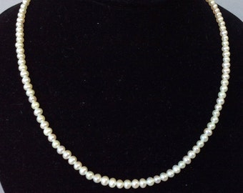 Sterling Silver Freshwater Pearl Dainty Hand-Knotted Necklace