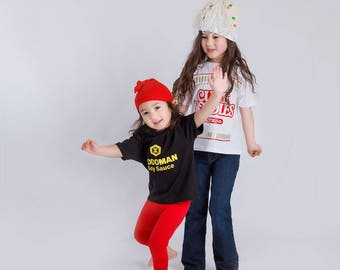 Ramen Sibling Combo Deal: Ramen and Soy Sauce Outfit Set with Hats, Unique Baby Outfit Combo, Baby Gift Combo,