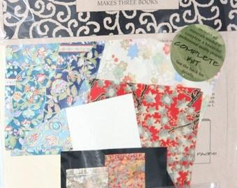 Bookbinding Japanese Stab Binding Kit -- Makes Three Books -- Books By Hand -- Bookbinding, Kit, Japanese