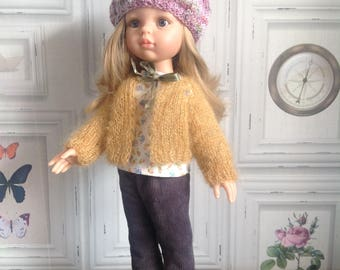 Vest + beret for Paola Reina and Corolle doll