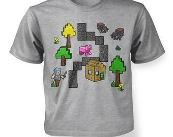 Pixel World (Front Print) kids t-shirt