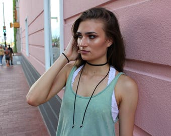 Suede Wrap Necklace
