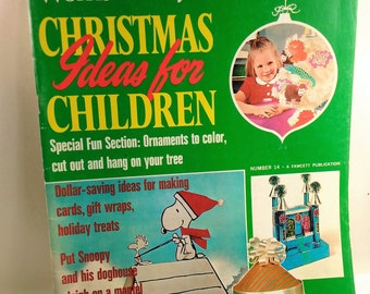 Women's Day Christmas Ideas For Children Magazine/1971/ Over 70 Pages of Ideas To Do with the Kids For Christmas (V)