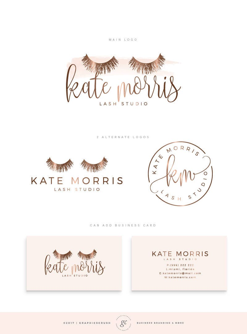 Lash logo design eyelashes logo rose gold logo eyelash zoom magicingreecefo Image collections