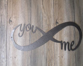 """You and Me Infinity Wall art sign 23"""""""