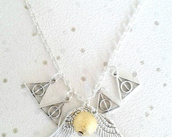 golden snitch necklace horcrux harry potter jewellery silver