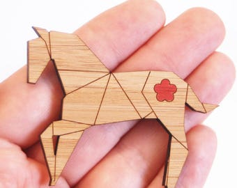 SALE - Origami Horse Brooch - LAST ONES