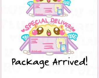 Special Delivery Fluffy || Planner Stickers, Cute Stickers for Erin Condren (ECLP), Filofax, Kikki K, Etc. || SFS156