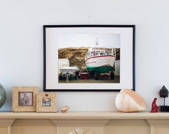 Icelandic Fishing Port/ Home Decor Gift / Travel / Wall Art / Winter Adventure /Wanderlust/ Ocean/ Boats / Nautical/ Europe / Exploration