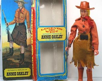 Vintage 1974 Legends Of The West Annie Oakley Toy Doll Action Figure + Original Box