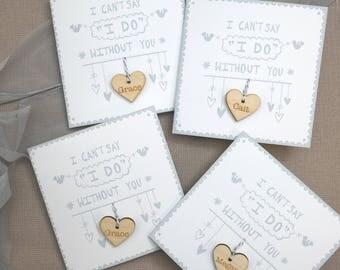 Will you  be my bridesmaid, Bridesmaid proposal, Bridesmaid card, Maid of Honour, Wedding Card, Wedding thank you, Maid of Honor