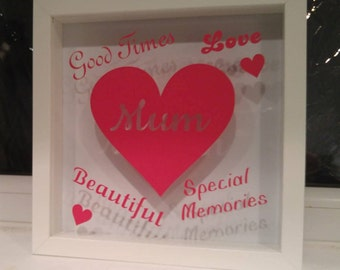 Mother's Day Vinyl self adhesive for Diy Box Frame (does not include frame)
