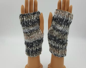 Fingerless Mitts, Fingerless Gloves, Hand Warmers, Wrist Warmers, Arm Warmers, Texting Mitts, Texting Gloves, Hand Knit Mitts, Acrylic Mitts