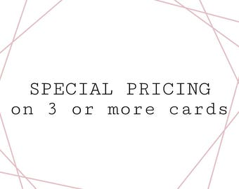 special pricing on multiple cards