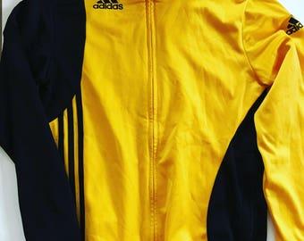 Vintage Adidas Jacket / Mens / Womens / L / 38 /40 / Black / Yellow / Sweatshirt  / Activewear / Sportswear / Casual / Sporty / Track Top