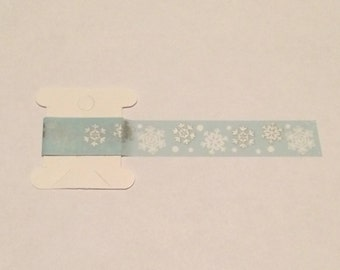 Blue Snowflake Washi Tape