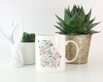 State of Georgia Mug - Watecolor Design - 15 oz