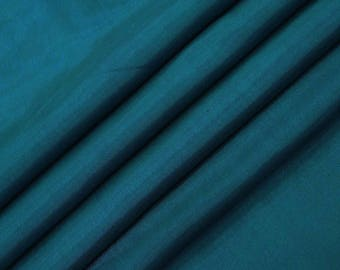 "Teal Blue Shantung Fabric, Dupioni Silk Fabric, Dress Material, Quilt Fabric, 45"" Inch Wide Fabric By The Yard ZSH3A"