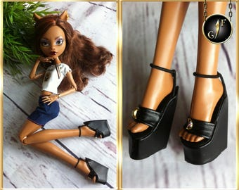 """Monster doll shoes """"Golden Crescent"""" for 17inches Ghouls"""