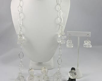 Crystal, Quartz Sterling Jewelry Set