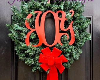 Christmas Wood Sign JOY for wreath, centerpiece, mantle or wall