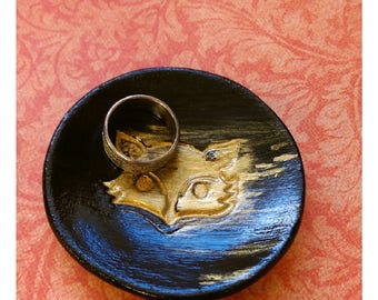 Black and Gold Jewelry Ring Dish