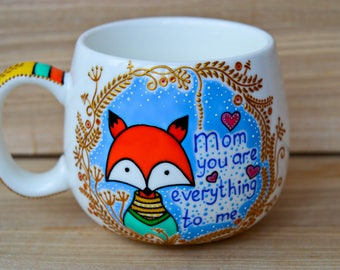 Gift for mom Mothers day Gift for mother Mug for mom Cute fox coffee mug Personalized gift for mom Mothers day mug Mom gifts