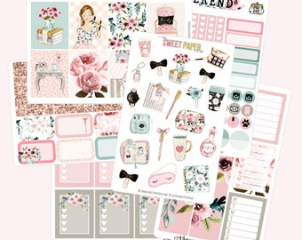 BLOOM Planner Sticker Set | Fits ECLP Vertical or Classic Happy Planner