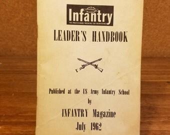 Vintage July 1962 U.S. Army Infantry School Leaders Handbook