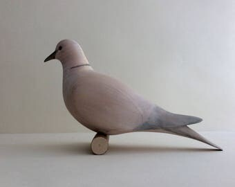 Carved Wooden Bird. Dove.