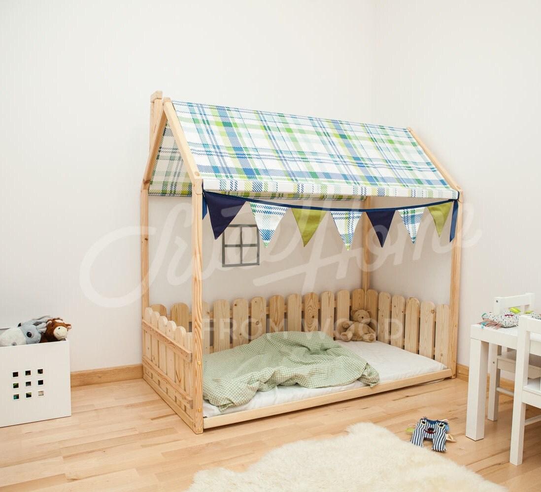 Toddler bed frame full double frame bed baby room kids for Childrens bed frames