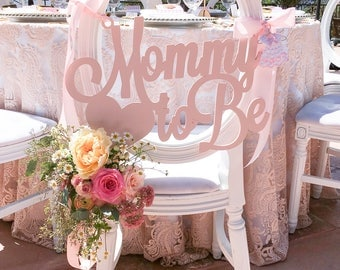 Mom to be chair sign | Etsy