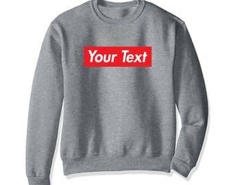 Custom KID Youth Child Supreme Style Red Box Logo Sweatshirt Long Sleeve Shirt Shirts KD-S01
