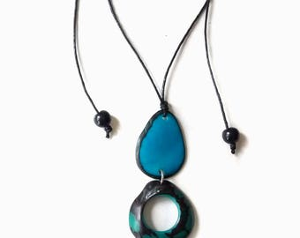 Handmade necklaces 2017. Multicolo Necklace in Tagua. Colombian necklaces. Handmade necklace.