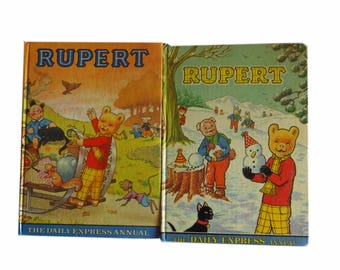 1970's Rupert the Bear Annual x 2