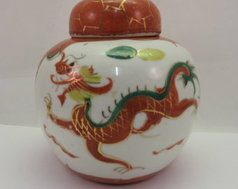 chinese ginger jar with dragons