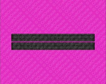 NEW ITEM: Keychain/Pigtails 5 rows rhinestone bow strips.