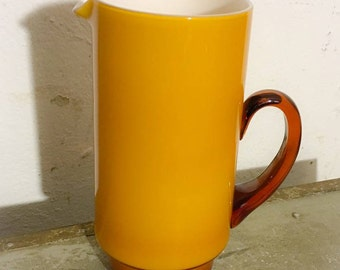 Holmegaard palet jug orange / yellow