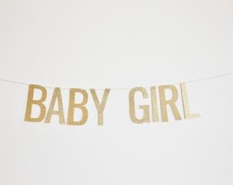 Baby Girl - Baby Shower Banner, Pregnancy Announcement Banner, Birth Announcement