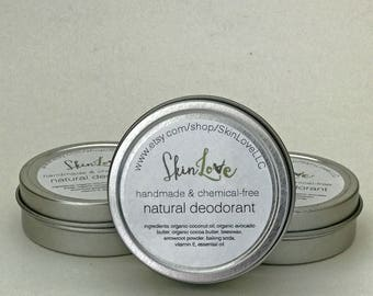 natural deodorant | NEW FORMULA | a handmade, chemical-free alternative | 2 oz